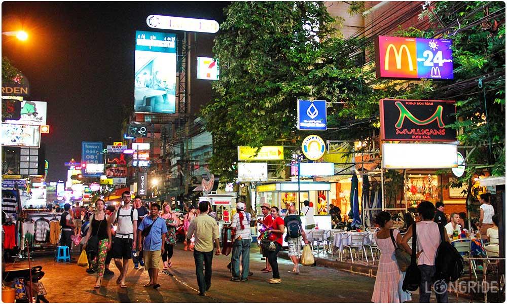 Пешеходная улица Бангкока - Каосан роуд