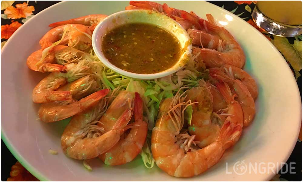 Цена за порцию креветок на Каосан Роуд, Бангкок